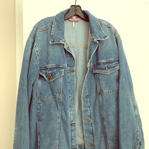 Free People Oversized Denim Jacket